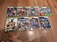 Various X box 360 and Wii games