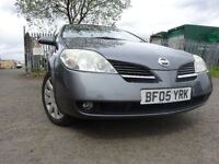 05 NISSAN PRIMERA 1.8 5 DOOR HATCHBACK,MOT APRIL 019,2 KEYS,3 OWNERS,PART HISTORY,ON BOARD COMPUTER