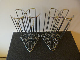 2x Tassimo Chrome Stainless Steel Coffee Pod Holders