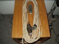 Mainsheet Blocks by Rutgerson and rope