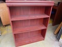 Book shelves Small Red wood Four available Delivery Available £7.50