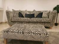 Large 4 seat sofa and large foot stool