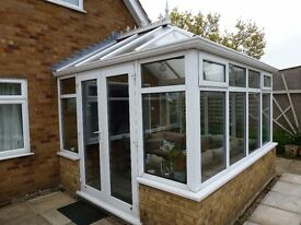 3mtr by 3mtr double glazed conservatory