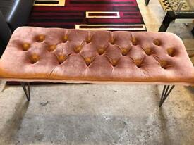 Hand made Tufted bench