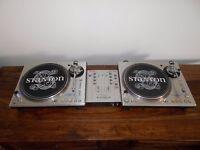 Stanton str8-100 Direct Drive turntables+ Vestax vmc-002 mixer. Technics 1210/1200 alternatives