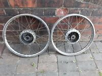 Honda c90/c70/c50 front and rear wheels
