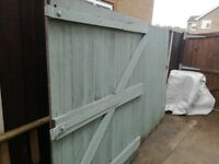 Wooden garden gates 6ft x 11ft