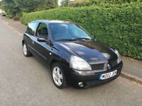 2005 Renault Clio 1.2 3dr Black Service History + Private Plate Included