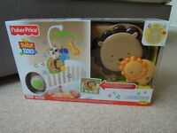 New Fisher Price Cot Mobile Baby Zoo Snuggle Cub Soother