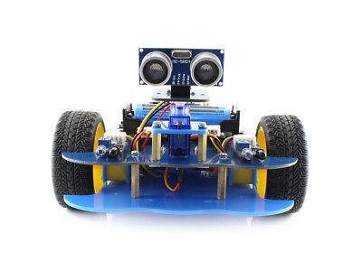 Bluetooth Smart Car Robot Building Kit For Arduino Uno Plusultrasonic Sensor