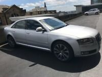 Silver Audi A8 3.0 V6 Low mileage 08 plate for sale private
