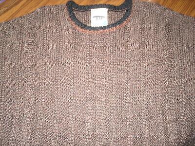 Inis Meain Fishermans Sweater M Medium 100% Wool Brown Crewneck Men's