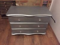 Bespoke metal effect chest of draws