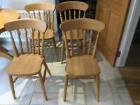 For Spindleback country beech kitchen chairs