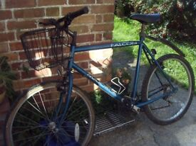 Falcon vintage bicycle with basket needs tlc £10.00