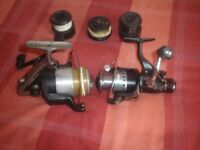 Fishing reels and some spare spools