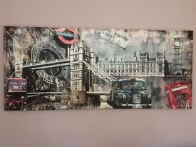 Large Canvas Wall Art - London Scenes