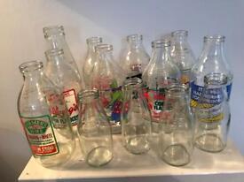 13 Retro Advertising Milk Bottles