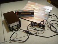 600W Grow Light Kit Omega bulb, solid, heavy, metal Ballast HPS Dual Spectrum Lamp, Reflector Shade