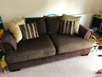 Chocolate brown sofas from AHF in excellent condition