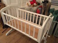 John Lewis Anna swinging crib in white