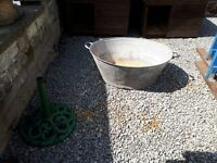 old tin bath
