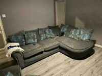 Corner sofa & swivel chair