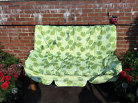 Green Garden Swing Chair Cushion fits all hardly used