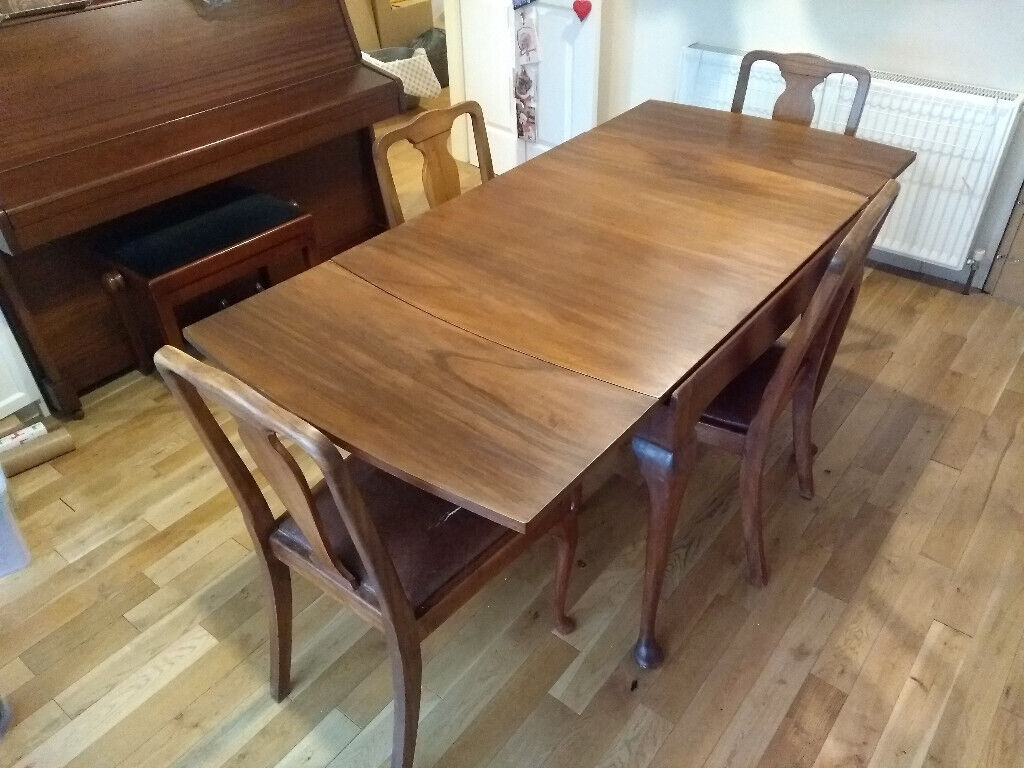 Vintage 1950s Dining Room Set Extending Table With 4 Chairs In Worcester Worcestershire Gumtree