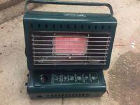 Portable gas heater for caravan, campervan or green house.