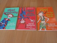 Pippi Longstocking - 3 books new and usused