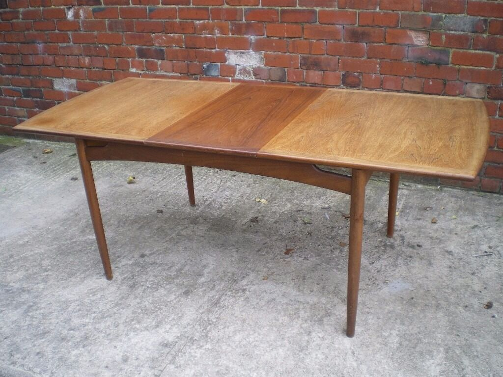 G Plan E Gomme Vintage Retro Teak Extending Dining Table With 4 Chairs
