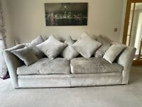 Large Parker Knoll Sofa and Armchair, Silver Grey Excellent Condition, Open to Offers