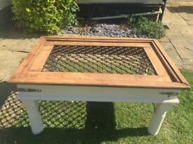Coffee table 'upcycled'