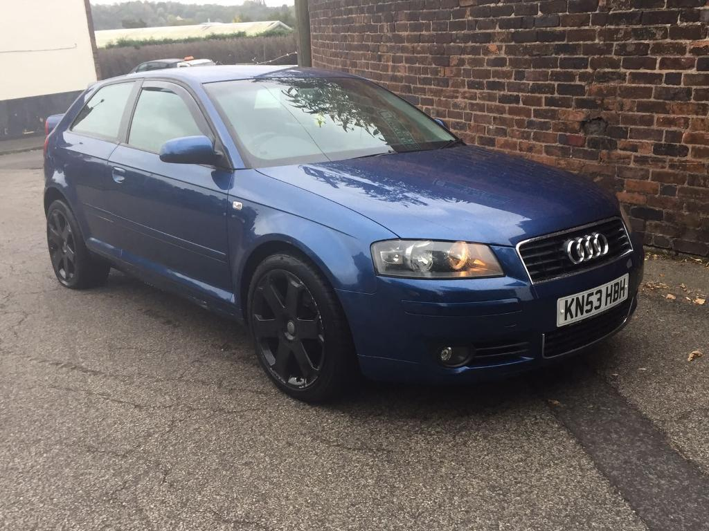 audi a3 8p 2 0 fsi blue 3 door 2003 sport 150bhp 136k damaged spares in stoke on trent. Black Bedroom Furniture Sets. Home Design Ideas