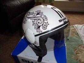Ladies Shark open faced helmet.