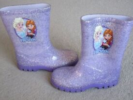 Kids Size 8 Purple Frozen wellies