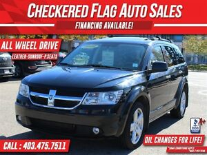 2010 Dodge Journey R/T W/ AWD-HEATED LEATHER-SUNROOF