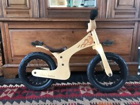 Wooden Early Rider balance bike, cost 150