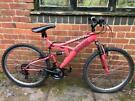 Unisex Trax TFS1 Full Suspension Mountain Bike MTB
