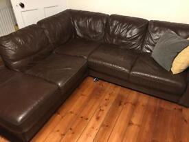L Shaped Sofa - Leather style