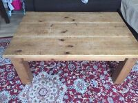 Solid pine wood coffee table