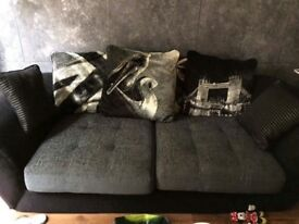 PRICE DROPPED!!!! Cuddle chair, 3 seater sofa plus coffee table