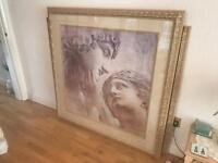 "Large Roman Picture/Painting/Print - 52""x52"" (132cmx132cm) - Gold Plated Frame"