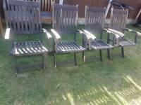 Hardwood garden folding chairs