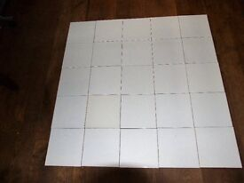 18 MTR 6,IN X 6,IN WHITE BATHROOM WALL TILES,END OF LINE UNUSED