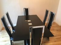 Dinning room table and chairs with mirror