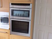 Neff eye level double oven