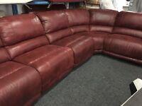 New/Ex Display Gouver Corner Group Recliner Sofa