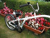 "Folding WeeRide Co-Pilot Tag Along Trailer Bike - Universal seat post attachment - 20"" Wheel"